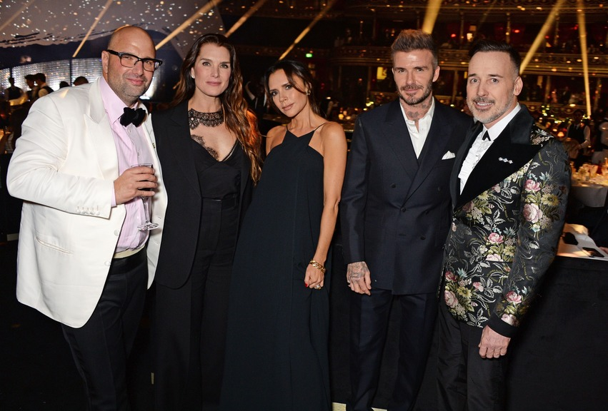 Andrew nugent brooke shields victoria beckham david beckham david furnish